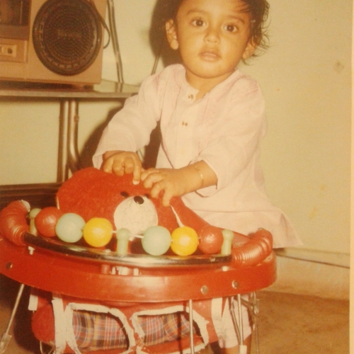 Picture of Nitin Nair as a baby